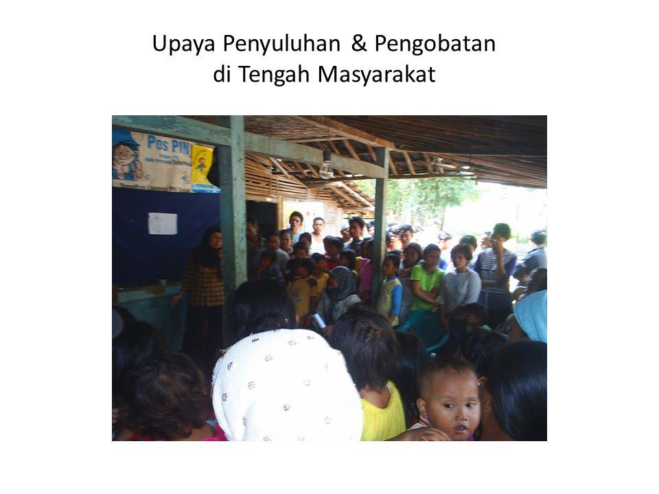 Upaya Penyuluhan & Pengobatan di Tengah Masyarakat