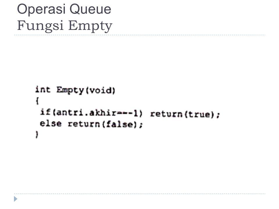 Fungsi insert jika queue masih kosong maka head dan tail menjadi 0, jika tidak kosong & antrian belum penuh maka tail akan diincrement