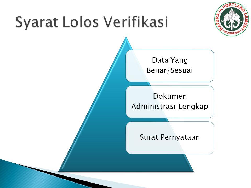 Data Yang Benar/Sesuai Dokumen Administrasi Lengkap Surat Pernyataan