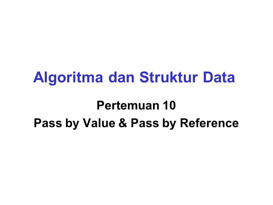 Pass by Reference Bagaimana cara mengubah nilai variabel panjang pada main dari fungsi hitungluas.