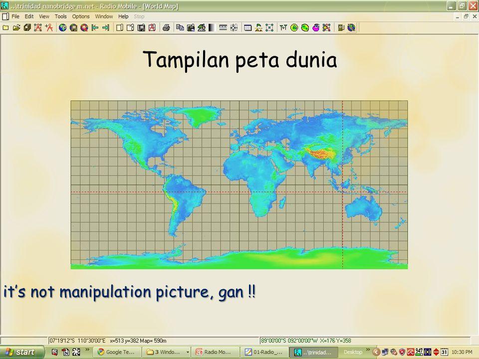 Tampilan peta dunia it's not manipulation picture, gan !!