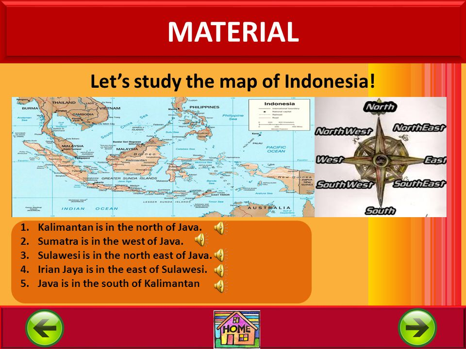 1. Compass Direction In studying to read map you must know the compass direction. Below there are compass in Indonesian and English. Compass or Wind d
