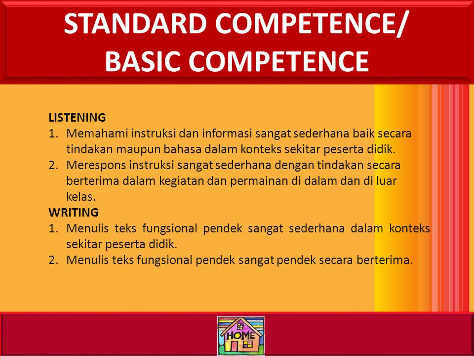 II. LET'S STUDY THE MAP STANDARD COMPETENCE/ BASIC COMPETENCE INDICATOR BRAINSTORMING MATERIAL EVALUATION