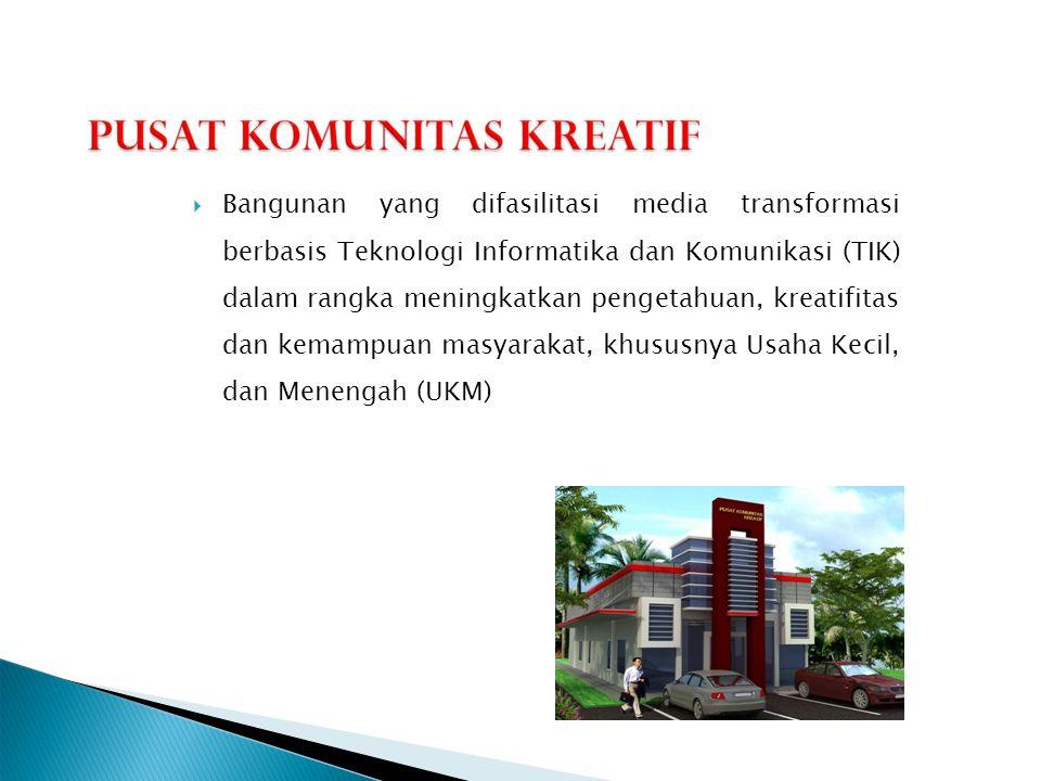  Bangunan yang difasilitasi media transformasi berbasis Teknologi Informatika dan Komunikasi (TIK) dalam rangka meningkatkan pengetahuan, kreatifitas