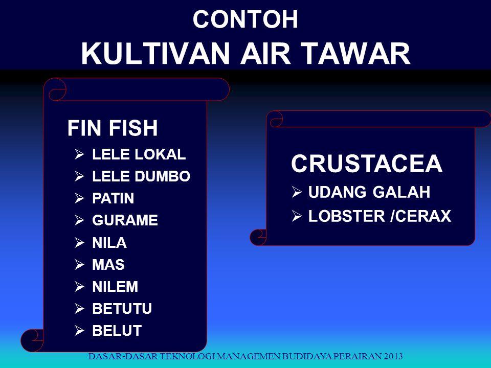 CONTOH KULTIVAN AIR TAWAR FIN FISH  LELE LOKAL  LELE DUMBO  PATIN  GURAME  NILA  MAS  NILEM  BETUTU  BELUT CRUSTACEA  UDANG GALAH  LOBSTER