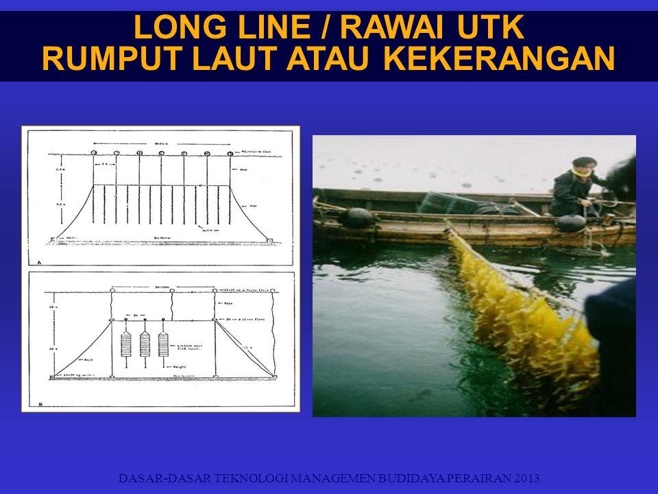 LONG LINE / RAWAI UTK RUMPUT LAUT ATAU KEKERANGAN DASAR-DASAR TEKNOLOGI MANAGEMEN BUDIDAYA PERAIRAN 2013