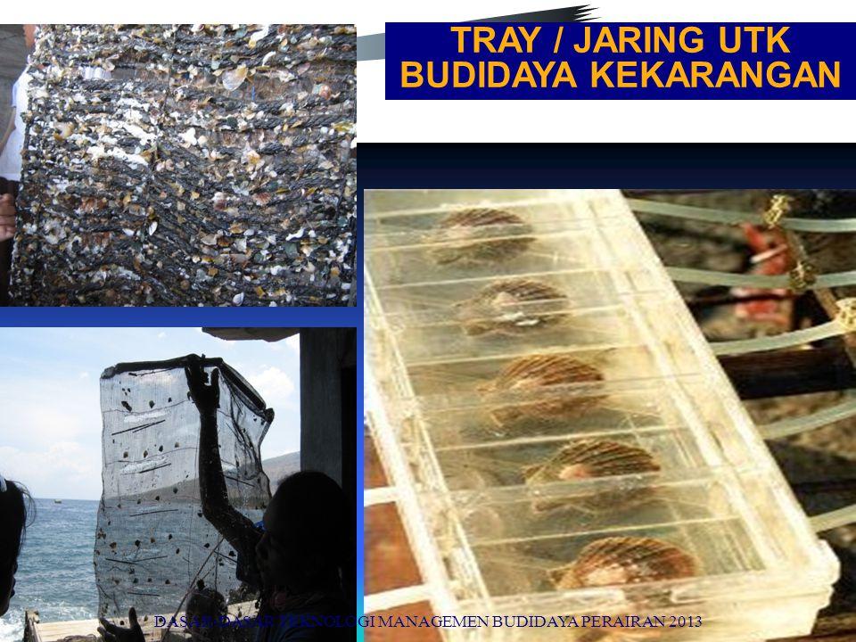 TRAY / JARING UTK BUDIDAYA KEKARANGAN DASAR-DASAR TEKNOLOGI MANAGEMEN BUDIDAYA PERAIRAN 2013