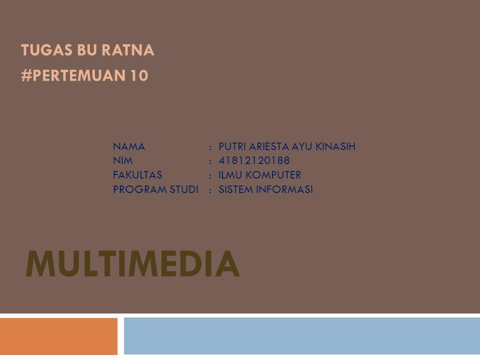  Multimedia Yang dimaksud multimedia adalah interaksi antara suara, gambar statis, animasi dan video (Perry,1994).