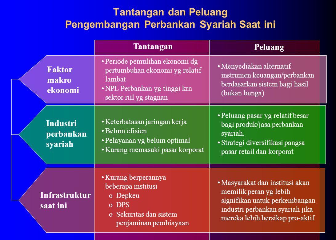 Kinerja Keuangan ROE Bank Syariah (%) ROE Bank Syariah, Bank Konvensional dan Jakarta Islamic Index selama th.2001 Permasalahan #5: Perlunya peningkatan kinerja keuangan dan kualitas pelayanan secara berkesinambungan agar dapat berdaya saing, memperbesar pangsa pasar, menarik SDM profesional dan permodalan