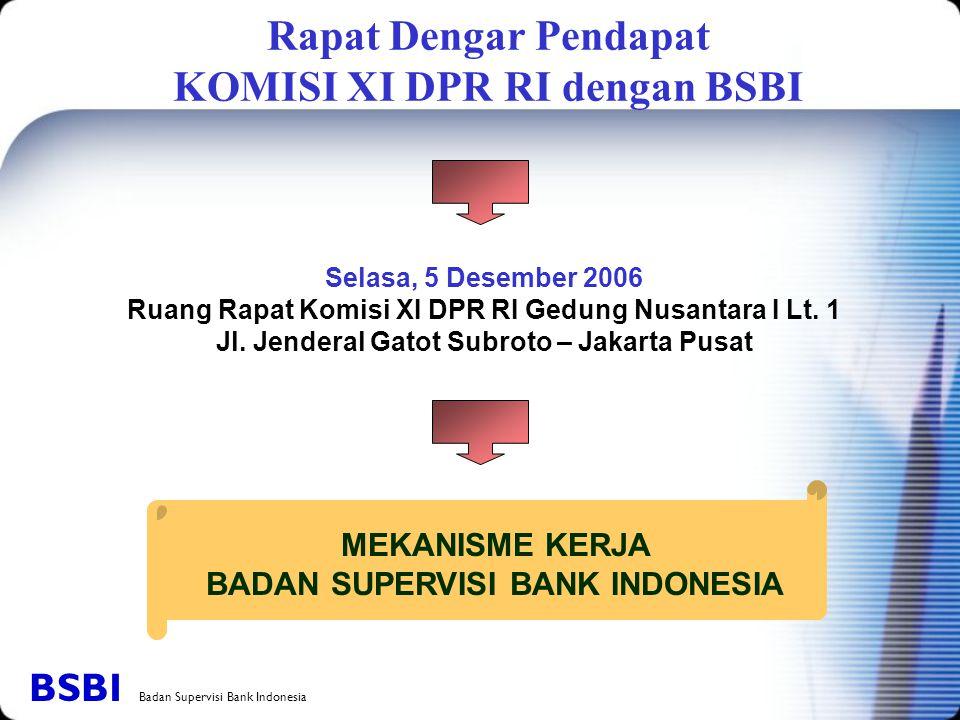 Rapat Dengar Pendapat KOMISI XI DPR RI dengan BSBI Selasa, 5 Desember 2006 Ruang Rapat Komisi XI DPR RI Gedung Nusantara I Lt. 1 Jl. Jenderal Gatot Su