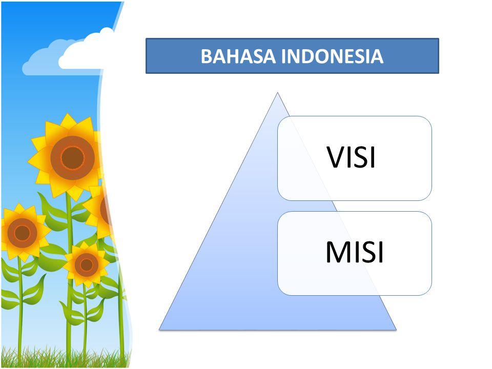 Visi: Menjadikan Bahasa Indonesia sebagai salah satu instrumen pengembangan kepribadian mahasiswa menuju terbentuknya insan terpelajar yg mahir berkomunikasi dalam bahasa Indonesia