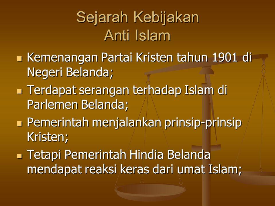 Penggagas Kebijakan Anti Islam Snouck Hurgronje 3 Resep melemahkan Kekuatan Agama Islam Rekomendasi Kebijakan menghadapi umat Islam Indonesia Belanda ketakutan menghadapi umat Islam