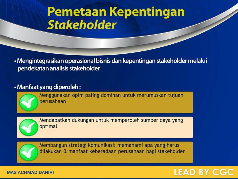 Pemetaan Kepentingan Stakeholder
