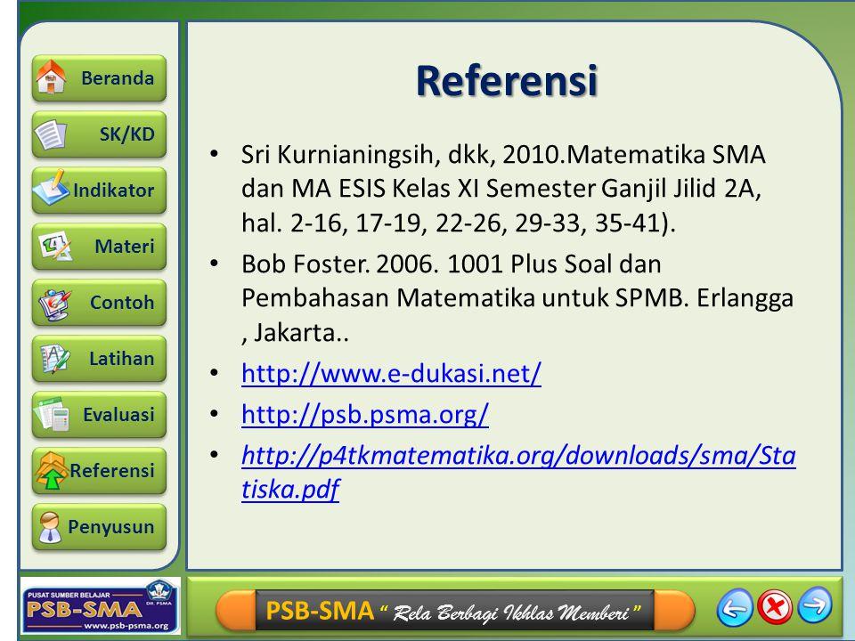 """SK/KD Indikator Materi Beranda Contoh Latihan Referensi Evaluasi Penyusun PSB-SMA """" Rela Berbagi Ikhlas Memberi """" Referensi Sri Kurnianingsih, dkk, 20"""