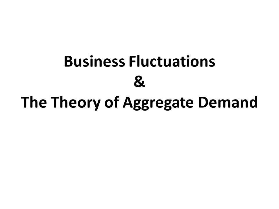 Business Fluctuations & The Theory of Aggregate Demand