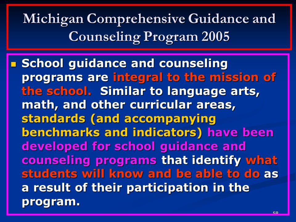 57 KONSEP INTERNASIONAL Konsep tentang kedudukan Layanan Bimbingan Konseling sebagai bagian integral dari program pendidikan di sekolah, secara intern