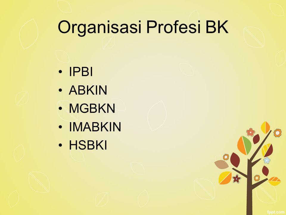 Organisasi Profesi BK IPBI ABKIN MGBKN IMABKIN HSBKI