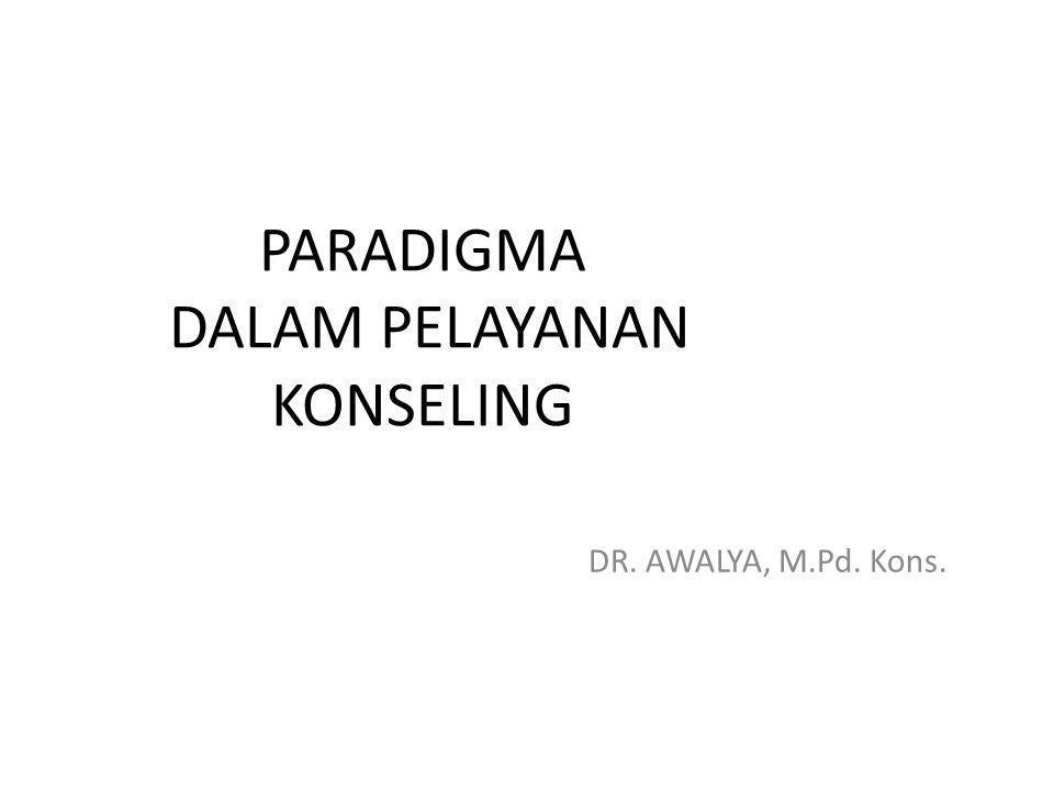 Pengertian Konsep Paradigma Dalam Pelayanan Konseling Paradigma konseling adalah pelayanan bantuan psiko-pendidikan dalam bingkai budaya.