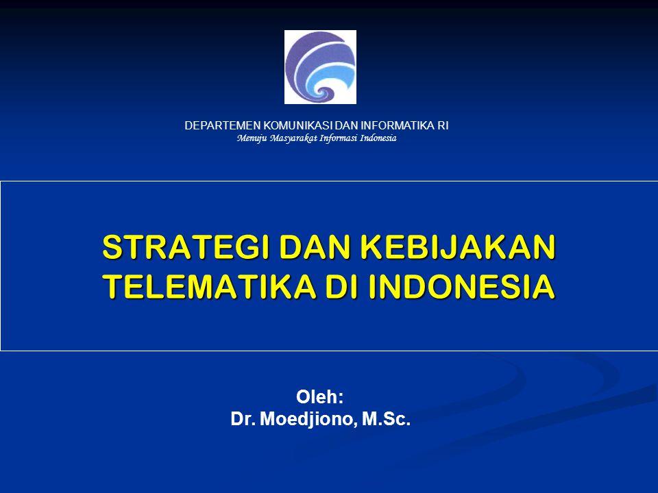 STRATEGI DAN KEBIJAKAN TELEMATIKA DI INDONESIA Oleh: Dr.