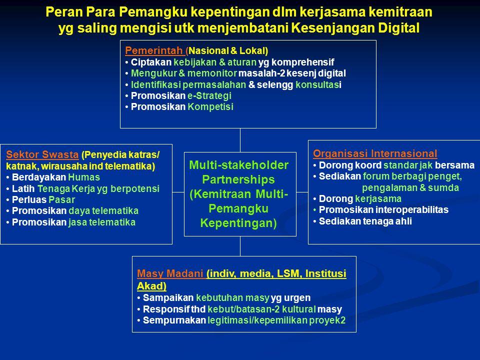 C. Menuju Masyarakat Informasi utk semua orang bdsk/melalui Pengetahuan yg dipakai bersama Dlm memasuki era baru dg potensi yg sangat besar yaitu MI,