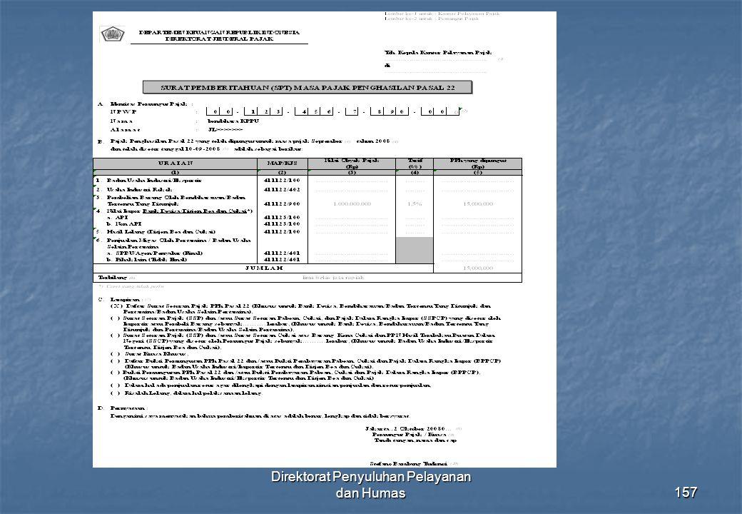 Direktorat Penyuluhan Pelayanan dan Humas157