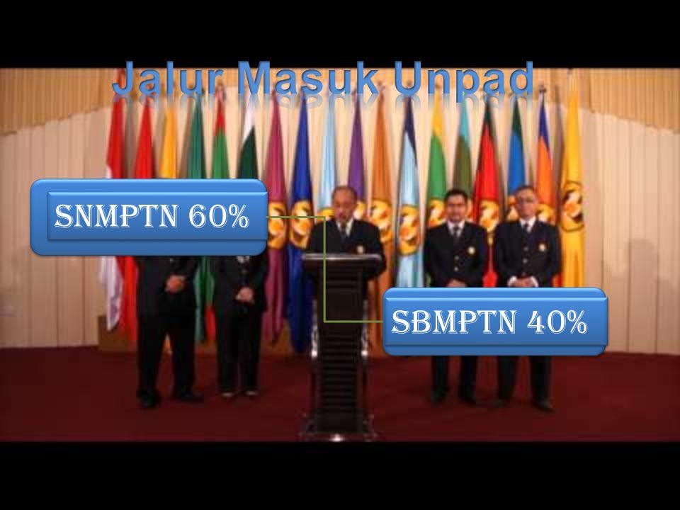 SNMPTN 60% SBMPTN 40%