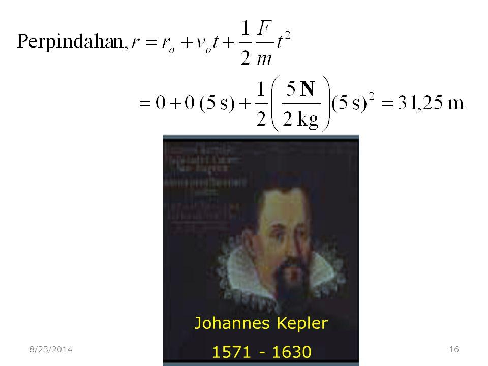 8/23/201416 Johannes Kepler 1571 - 1630