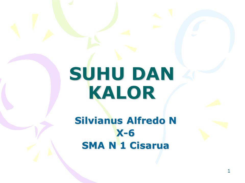 1 SUHU DAN KALOR Silvianus Alfredo N X-6 SMA N 1 Cisarua