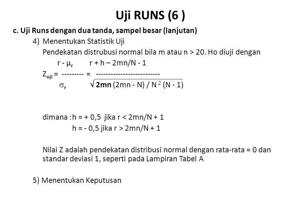 Uji Runs (7) d.