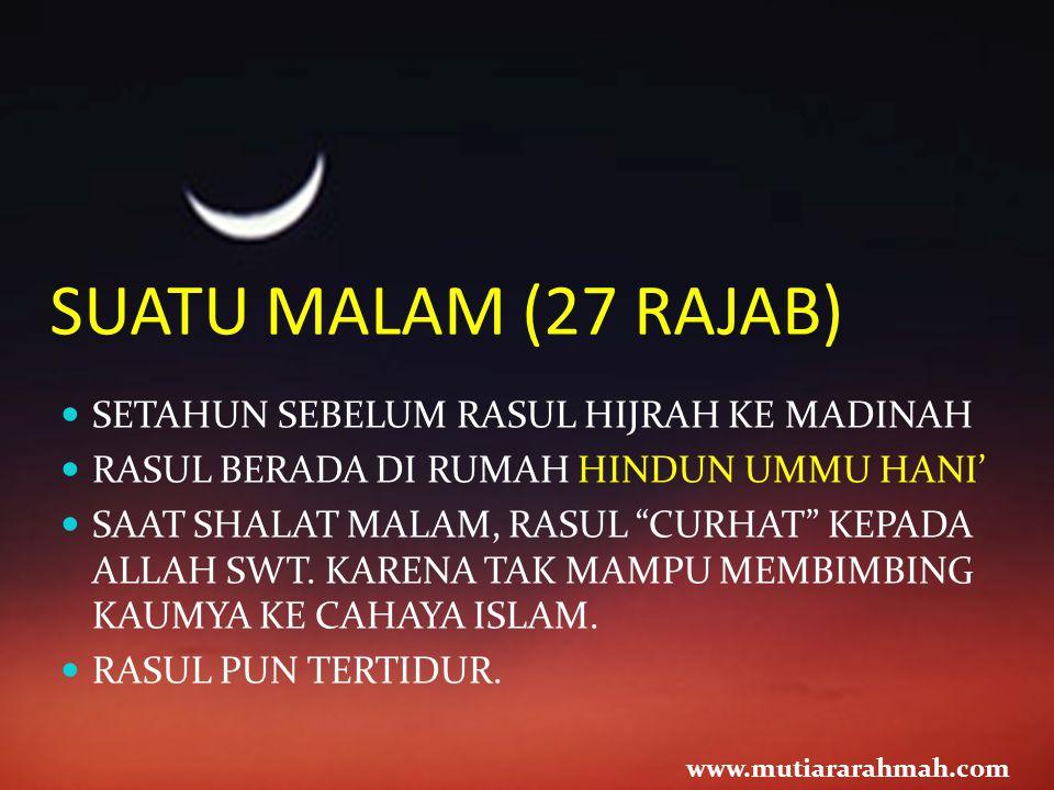 SESUDAH ITU...Nabi saw kabarkan kepada semua orang di Mekkah.