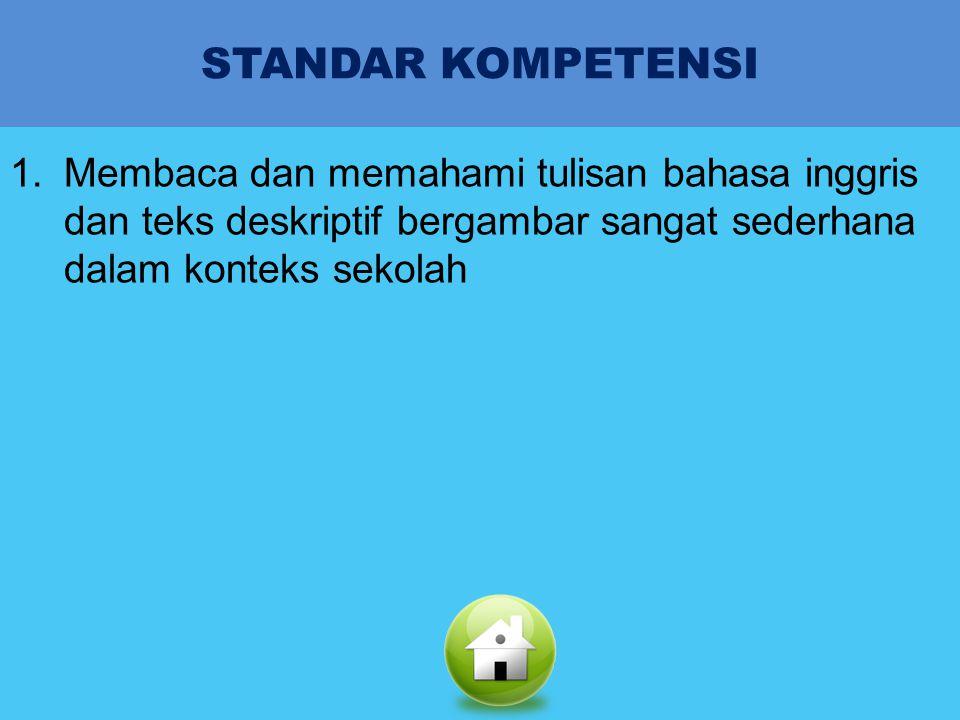 STANDAR KOMPETENSI KOMPETENSI DASARINDIKATORMATERIEVALUASI BAHASA INGGRIS KELAS V SEMESTER 2