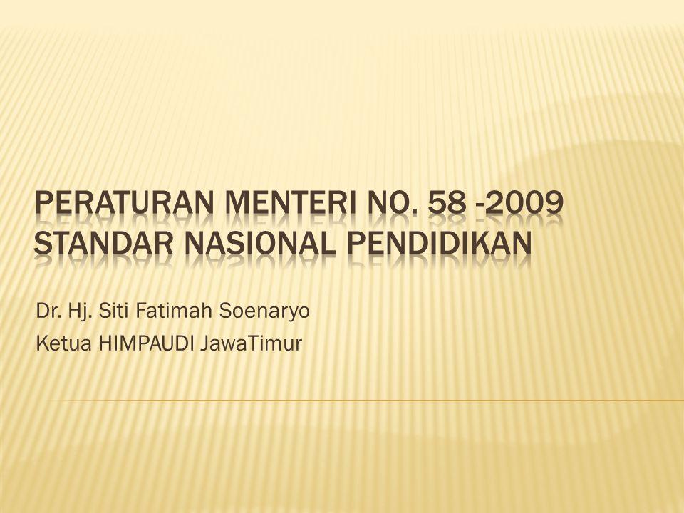 Dr. Hj. Siti Fatimah Soenaryo Ketua HIMPAUDI JawaTimur
