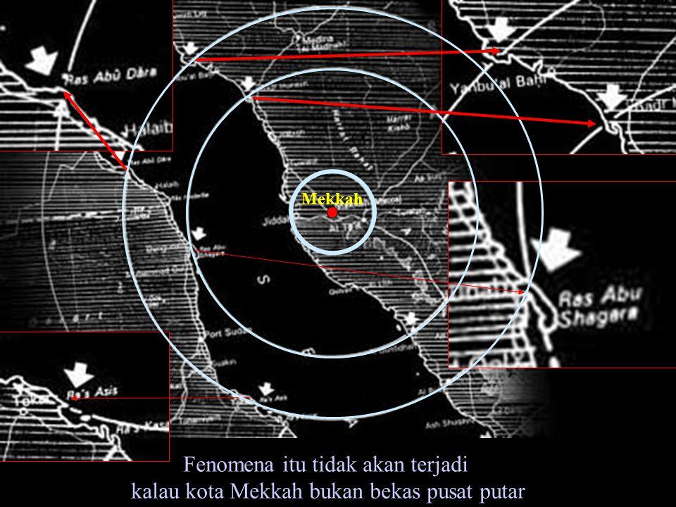 Fenomena itu tidak akan terjadi kalau kota Mekkah bukan bekas pusat putar Mekkah