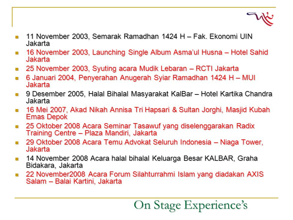 11 November 2003, Semarak Ramadhan 1424 H – Fak.
