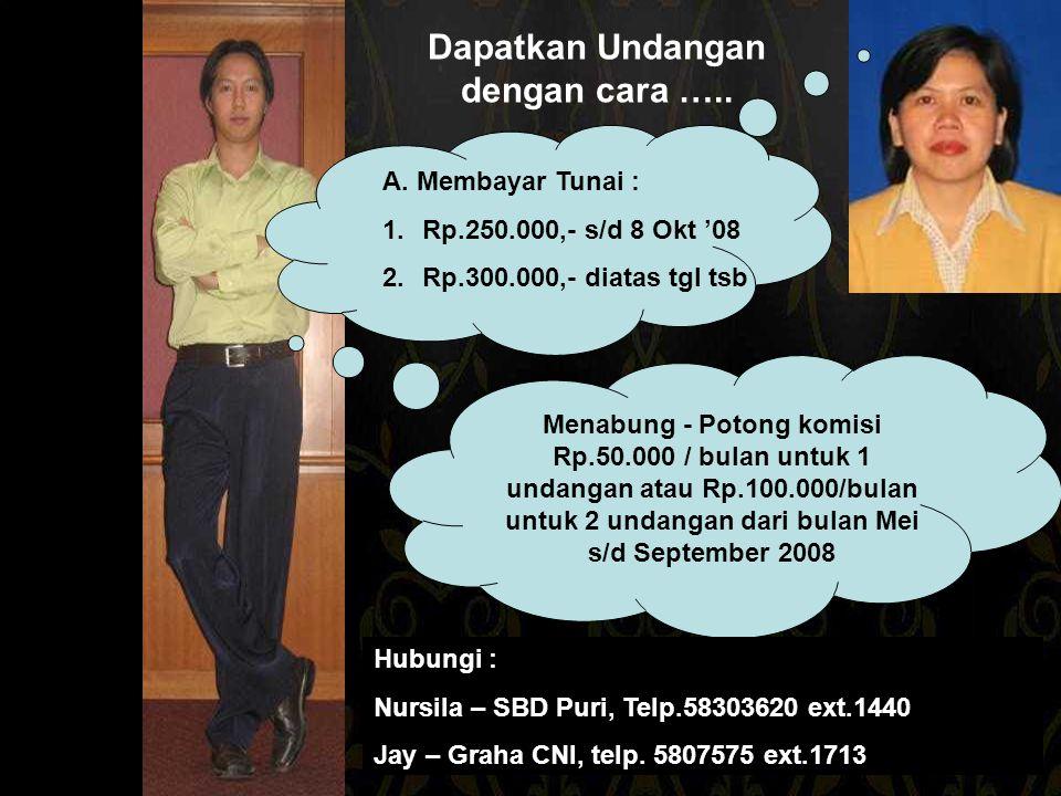 Undangan Dibagikan Pembayaran Lunas Mendapatkan Konfirmasi Pilih cara pemesanan undangan C'mon Join Us Dapatkan Flyer & Lengkapi