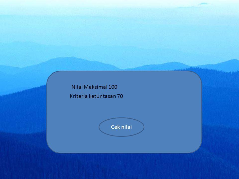 menu SK materi simulasi video soal home profil a a a Nilai Maksimal 100 Kriteria ketuntasan 70 Cek nilai