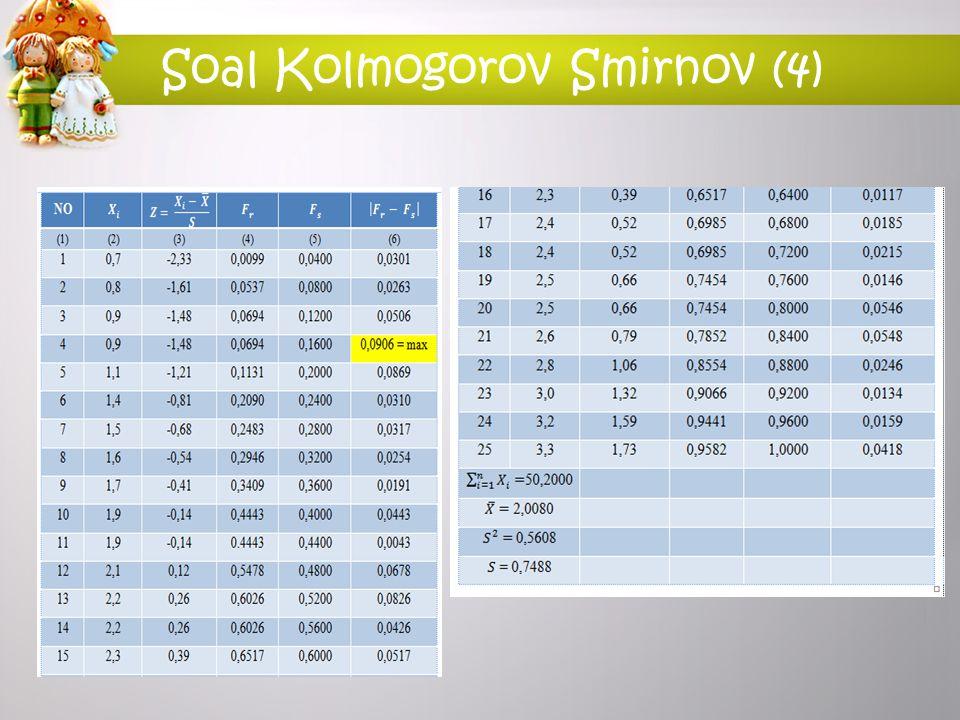 Soal Kolmogorov Smirnov (4)