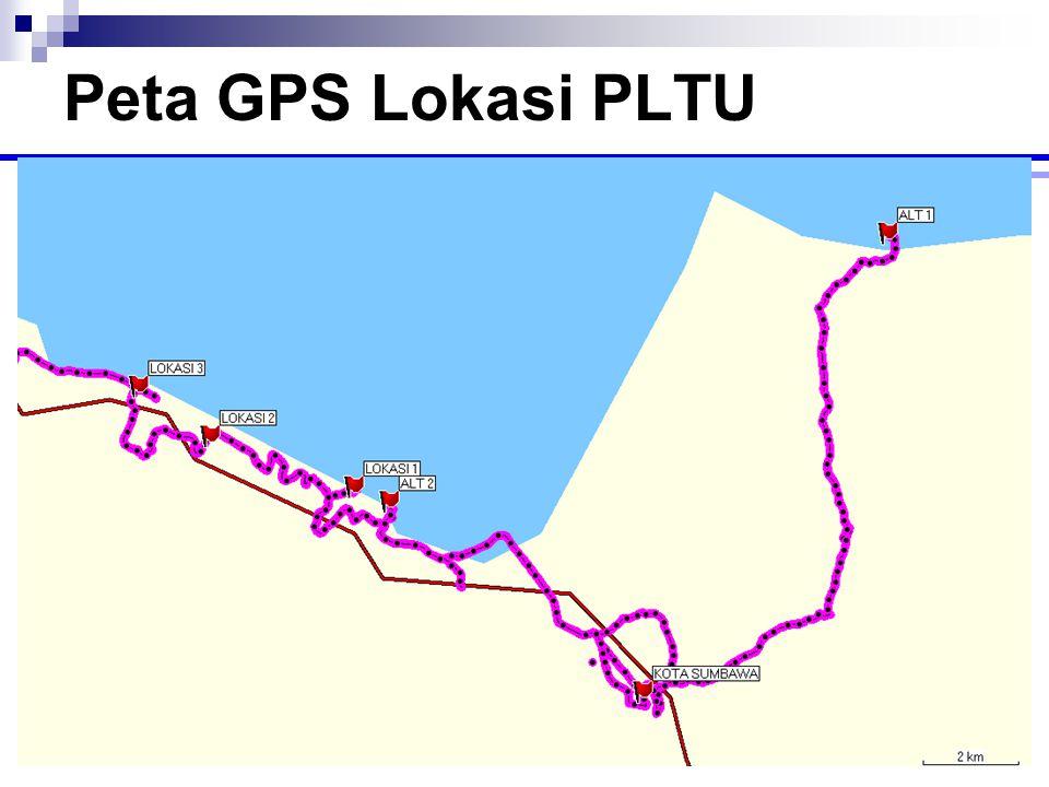 Peta GPS Lokasi PLTU
