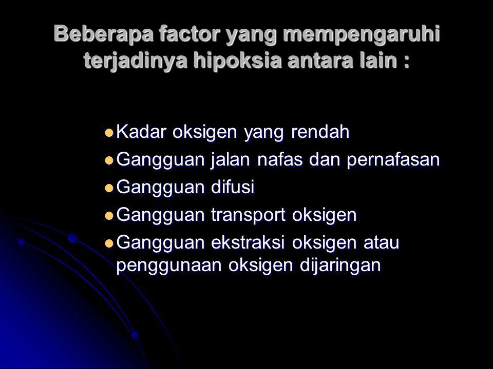 TUJUAN TERAPI OKSIGEN Mencegah terjadinya hipoksia Mencegah terjadinya hipoksia Terapi terhadap hipoksia Terapi terhadap hipoksia