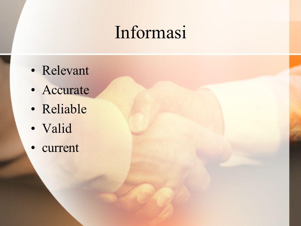 Sumber Informasi Sistem Informasi.Jika tidak tersedia .