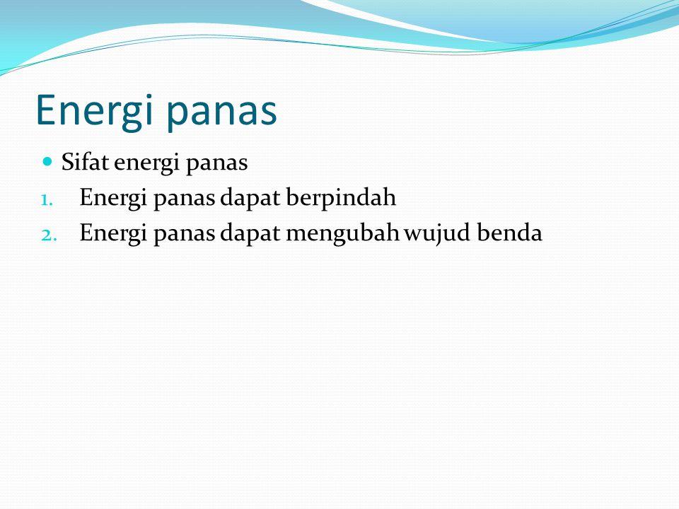 Energi panas Perpindahan energi panas 1.