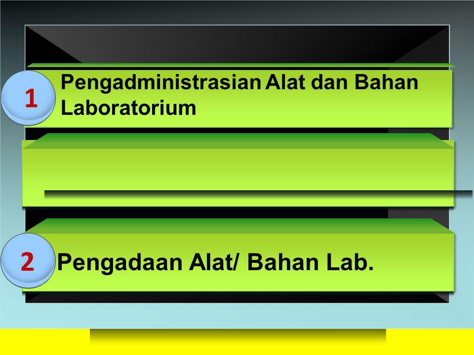 3D BLOCKS Pengadministrasian Alat dan Bahan Laboratorium Pengadaan Alat/ Bahan Lab. 1 2