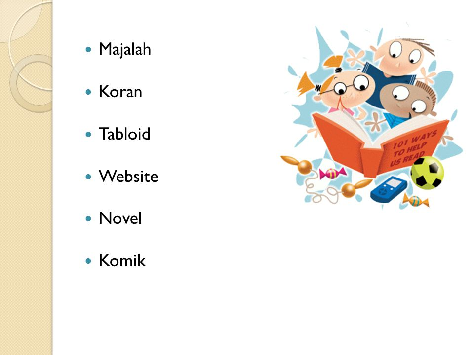 Majalah Koran Tabloid Website Novel Komik