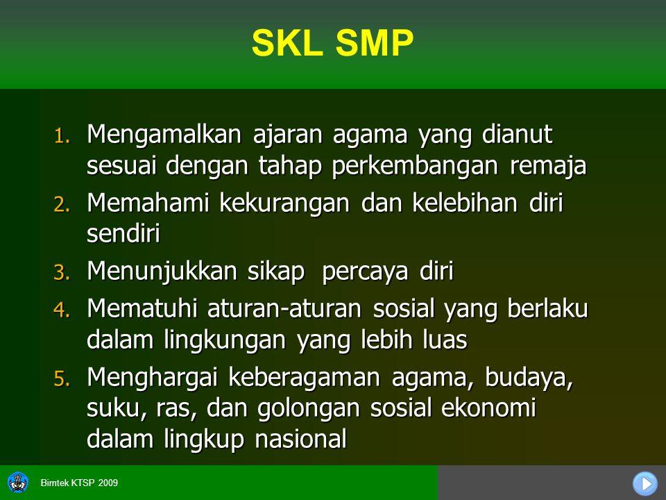Bimtek KTSP 2009 SKL SMP 1.