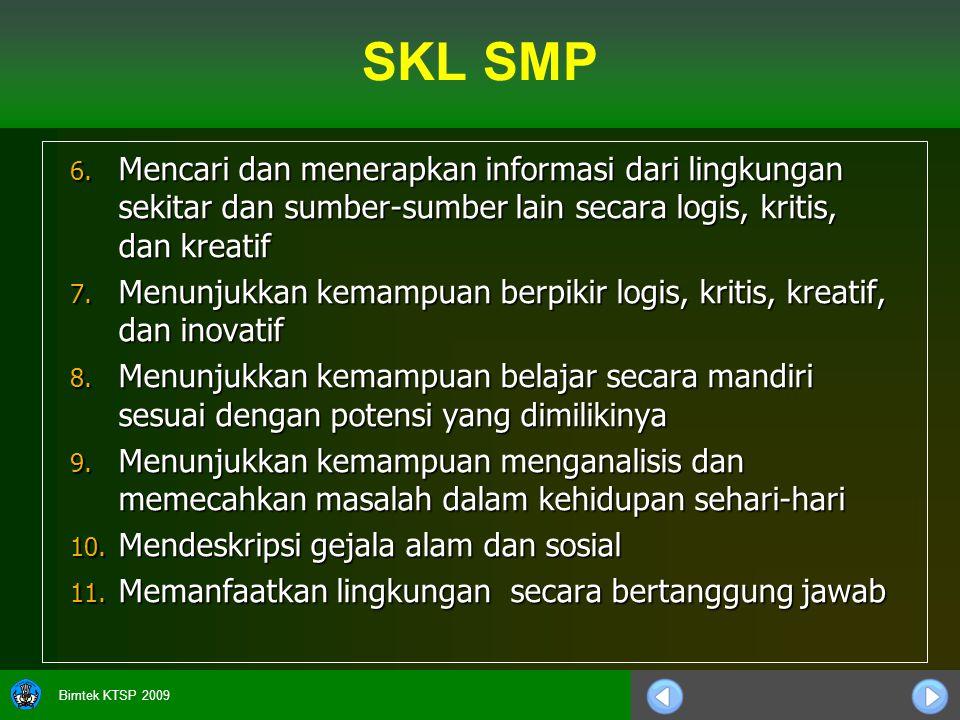 Bimtek KTSP 2009 6.