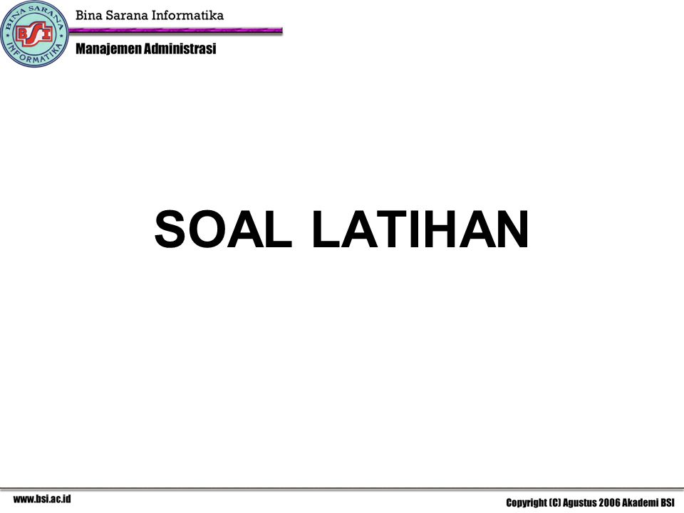 SOAL LATIHAN