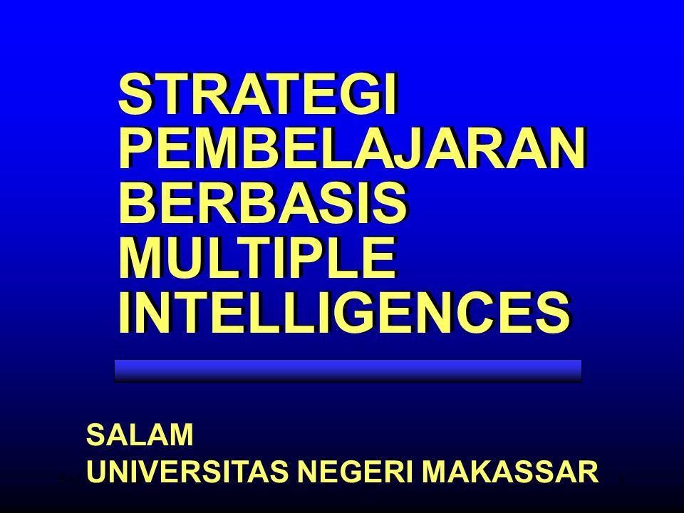 SALAM-UNM1 STRATEGI PEMBELAJARAN BERBASIS MULTIPLE INTELLIGENCES STRATEGI PEMBELAJARAN BERBASIS MULTIPLE INTELLIGENCES SALAM UNIVERSITAS NEGERI MAKASS