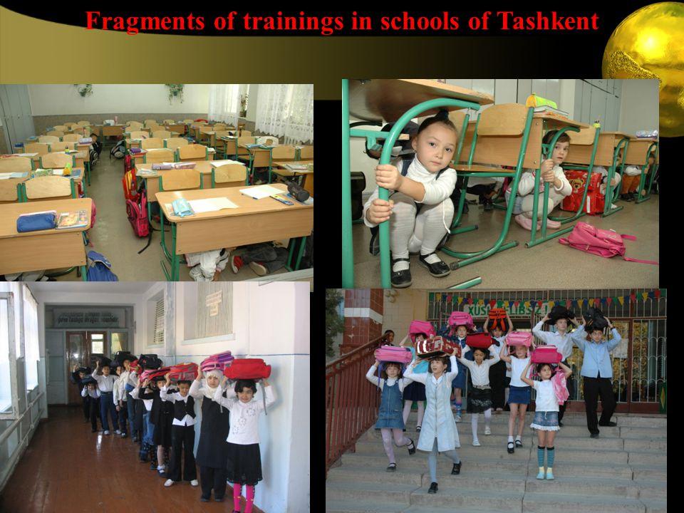 Fragments of trainings in schools of Tashkent