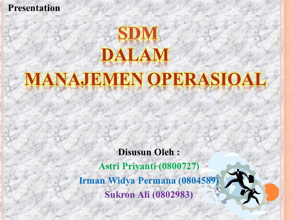 Disusun Oleh : Astri Priyanti (0800727) Irman Widya Permana (0804589) Sukron Ali (0802983) Presentation