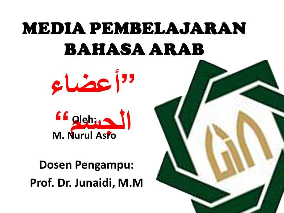 MANUAL MEDIA PEMBELAJARAN BAHASA ARAB UNTUK MI Mata pelajaran: Bahasa Arab Materi: Anggota Badan Tingkat.